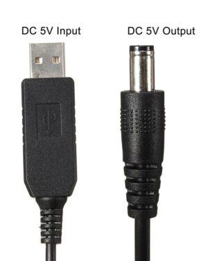 USB a Barrel Jack