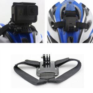 supporto fascia casco compatibile gopro